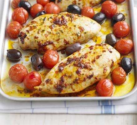 Chicken with harissa & tomatoes