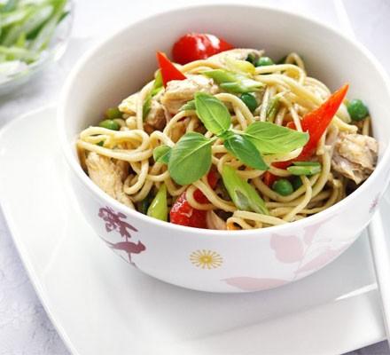 Tasty chicken noodles