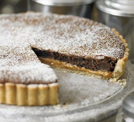 Millionaire's chocolate tart