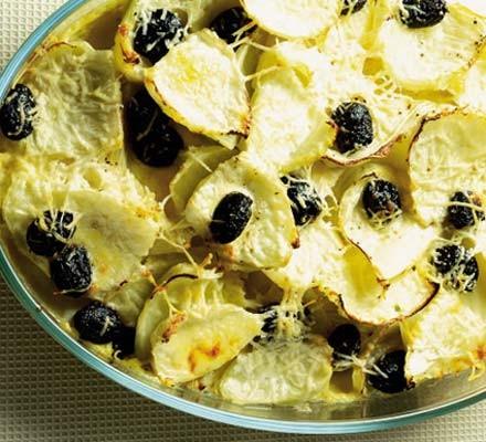 Fennel & black olive gratin