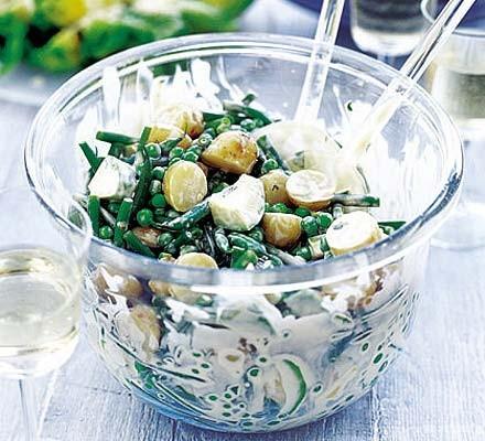 Summer potato salad with minty Dijon mayo