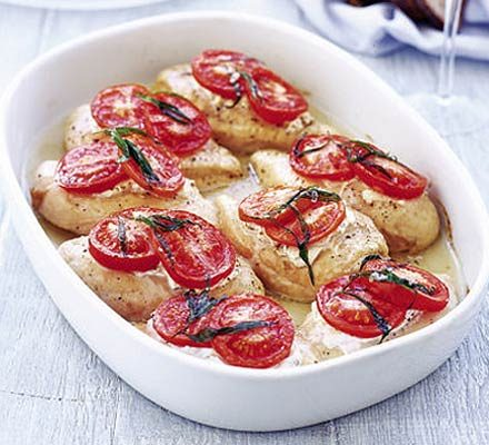 Chicken with goat's cheese & tarragon_image