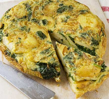 Spanish spinach omelette