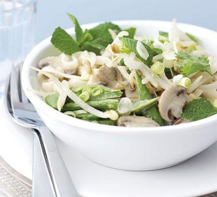 Coconut noodle & vegetable soup