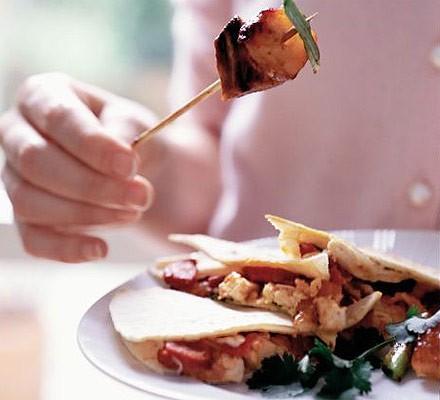 Chicken & chorizo quesadilla