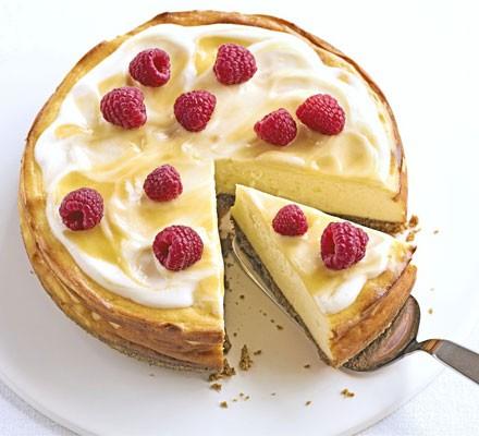 Luscious lemon baked cheesecake