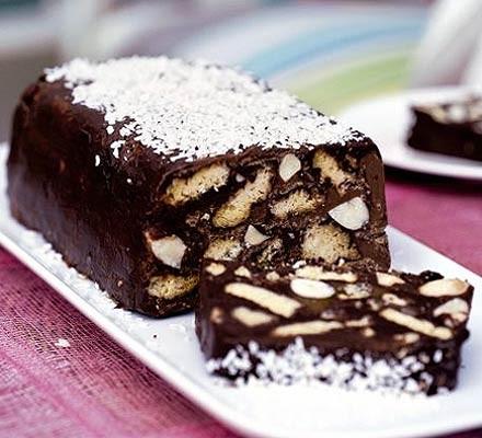 Quick chocolate & nut cake