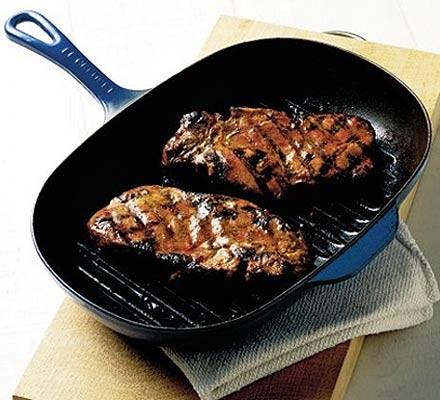 Mustard & rosemary pork chops