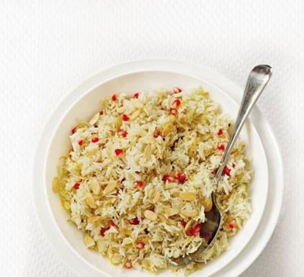 Zesty pomegranate rice