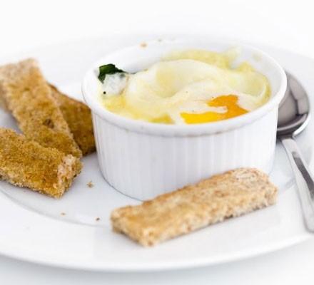 Baked dippy eggs