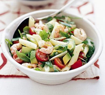 Prawn Avocado Pasta Salad Recipe Bbc Good Food