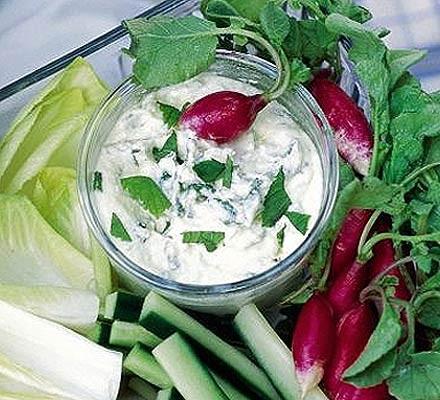 Herby feta & lemon dip with crudités