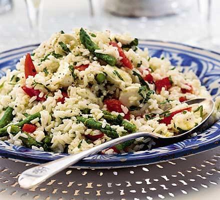 Minty summer rice salad