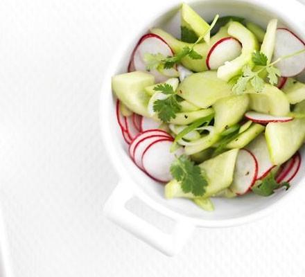 Pickled radish & cucumber salad
