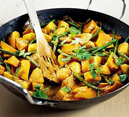 Thai squash & pineapple curry