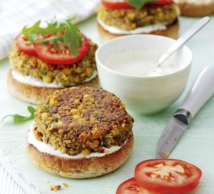Mushroom & chickpea burgers