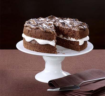 Light & fluffy chocolate mocha cake