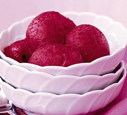 Strawberry lemon sorbet