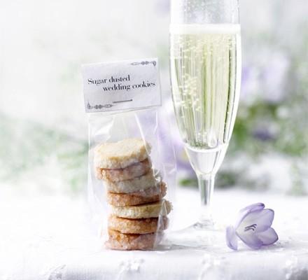 Sugar-dusted wedding cookies