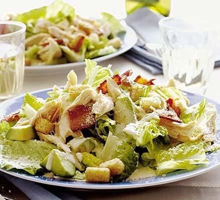 Chicken & bacon Caesar salad
