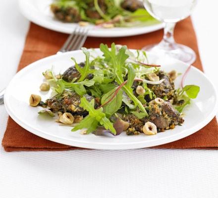 Warm salad of chicken livers, smoked paprika & sherry