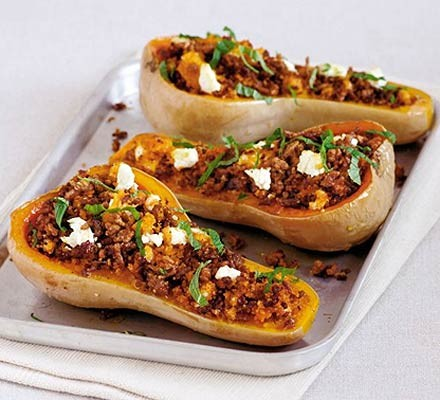 Cheesy stuffed squash