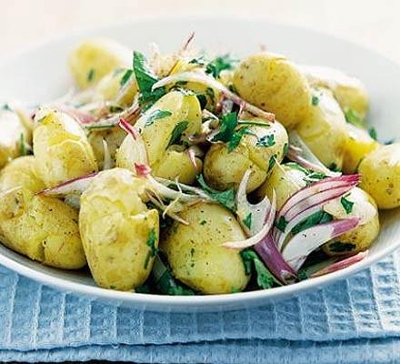Cracked potato salad