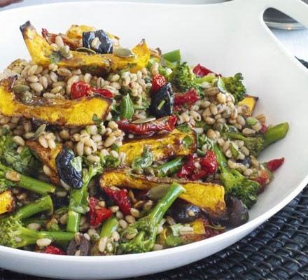 Squash & barley salad with balsamic vinaigrette