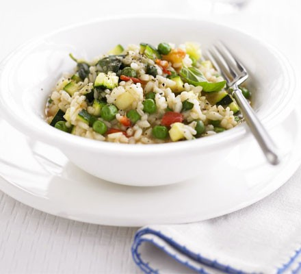 Summer courgette risotto