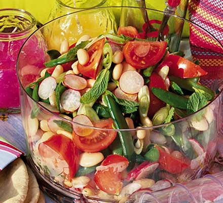 Spiced two-bean salad