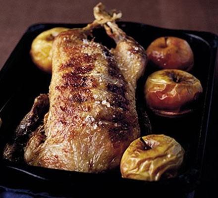 Crispy duck & baked apples