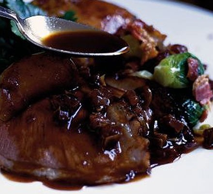 Date & red wine sauce