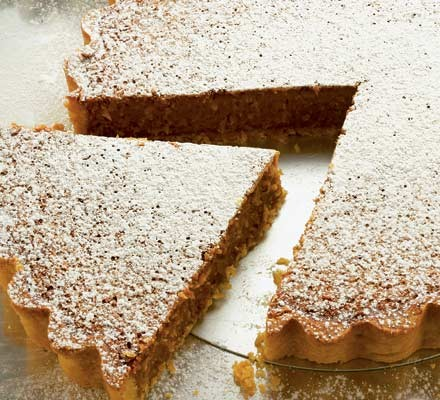 Coconut, syrup & lime tart