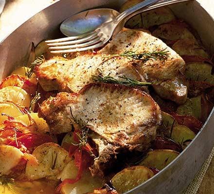 Summer pork & potatoes