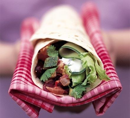 Mexican chilli bean tortilla