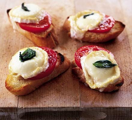 Summery cheese on toast