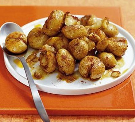 Crunchy new potatoes