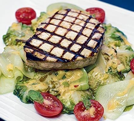 Griddled swordfish with pineapple & chilli salsa