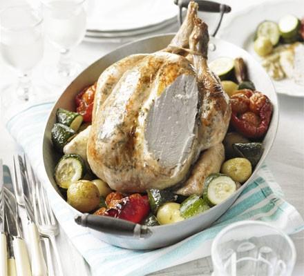Roast chicken vinaigrette