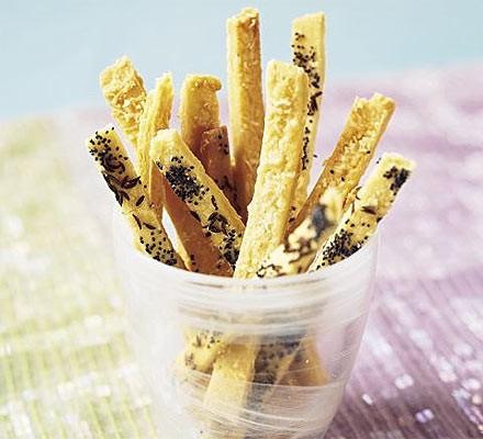 Parmesan, poppy seed & caraway twists