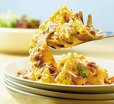 Pappardelle with sausage & fennel seed bolognese