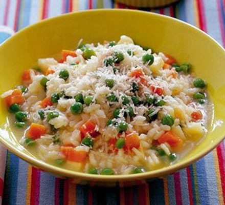 Creamy veggie risotto