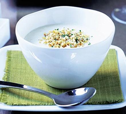 Cauliflower Polonaise soup