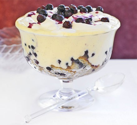 The ultimate makeover: Blueberry trifle