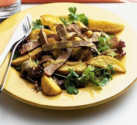 Steak & chips salad