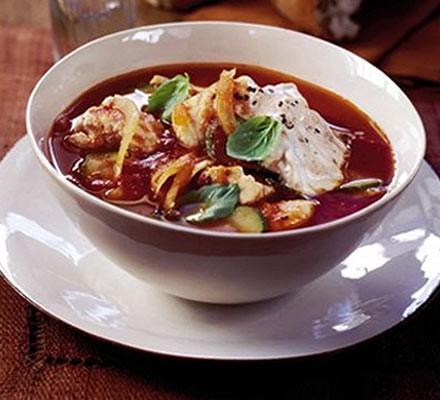 Chunky Mediterranean fish soup