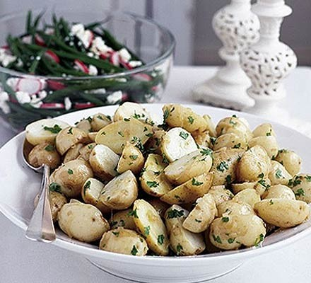 Marinated new potatoes
