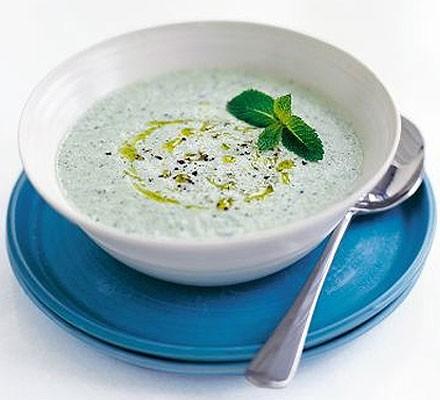 Fragrant cucumber & yogurt soup