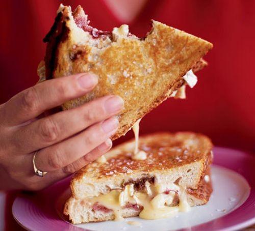 cheese toastie on plate