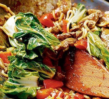 10-minute steak & noodle supper